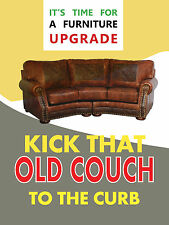 """It's Time For A Furniture Upgrade Retail Display Sign, 18""""w x 24""""h, Full Color"""