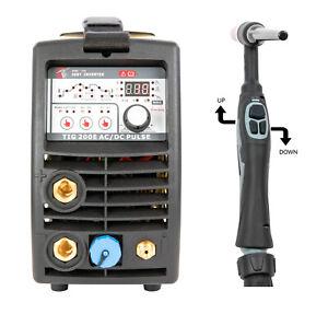 Schweißgerät Inverter AC DC WIG TIG MMA ARC 200A Pulse IGBT HF Zündung ALU 6mm