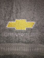 Embroidered Gray Bathroom Hand Towel /Cloth Automotive Label in Gold and Silver