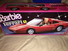 BARBIE RED FERRARI CAR 1986/1987 # 3136 COMPLETE WITH PARTS & STICKERS INTACT