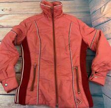 Women's Sz 10 Vintage White Stag Ski Jacket Coat Brick Red Winter 80's Zip