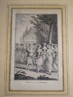 P. LAURENT Gravure XVIII SCENE ANIMEE DANSE GRECE GRECS OTTOMAN TURKEY 1780