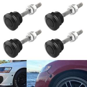 4X 22mm Push Button Bonnet Hood Pin Lock Clip Kit Car Quick Release Bumper Latch