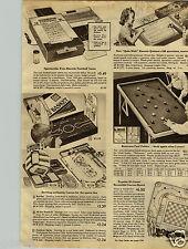 1947 PAPER AD Football Game Foto-Electric Quiz Kids Electric Hockey Baseball