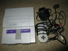 Super Nintendo SNES Video Game Console System Tested Guaranteed