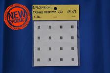 Riproduzioni targhe Mebetoys MI F62857 adesive, 16pz, stampa alta qualità