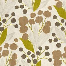 Kravet Modern Floral Linen Print Upholstery Fabric- Capparis/Olive Tree 5.30 yd