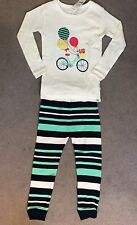 GAP LONG SLEEVE PJ'S WITH BALLOONS TIED TO A GREEN/PINK BIKE & TROUSERS -3y BNWT