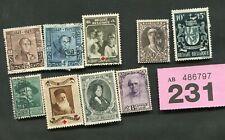 Set  stamps  of   Belgium