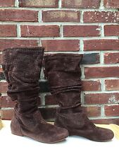 UGG Highkoo 2 Perforates Knee High Brown Suede Boots - 8 Amazing Comfy!