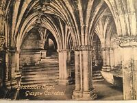 Antique Postcard  Blackadder Crypt Glasgow Cathedral Valentine's Series Etching