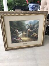"""Thomas Kinkade """"Hidden Cottage"""" Print Library Edition Picture Home Interiors !"""