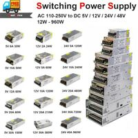 AC110 220V to DC 48V 24V 12V 5V Power Supply Adapter Driver for LED Strip 1A-60A