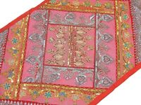 Wall Hanging Decor Accent Pink Decorative Tapestry Retro Patchwork Textile