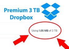 Dropbox Premium 3TB 🔥Lifetime Premium Account ✅ Custom Account 🔥 Fast Delivery