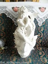 Vintage Porcelain water fountain cherub with a fish