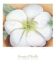 FLORAL ART PRINT White Flower on Red Earth No. 1, 1946 by Georgia O'Keeffe 34x28