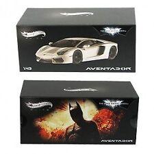 Lamborghini Aventador The Dark Knight Rises Silver Metallic 1 43 Hotwheels Elite