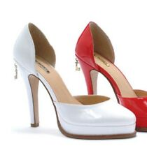 Ellie Penthouse PH452-SUGAR White Pumps Heels Wedding Formal Patent Leather 10