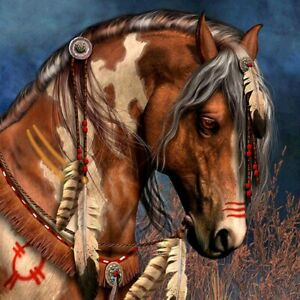 5D Diamond Painting Kits Indian Horse DIY Full Drill Art Embroidery Room Decors