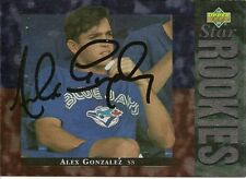 Alex Gonzalez Blue Jays Signed 94 Upper Deck Card