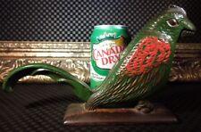 RARE Figural Parrot Bird Nut Cracker Tool Excellent Heavy Cast Iron as Doorstop