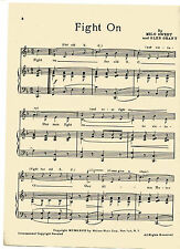 """Vintage UNIVERSITY OF SOUTHERN CALIFORNIA song sheet - """"FIGHT ON"""" - music"""