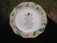 Paula Deen Home for the Holidays Message Cardinal White Collector's Plate