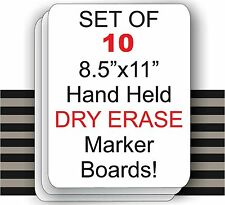 "Set Of 10  - 8.5"" X 11"" Student Laptop Dry Erase Marker Boards ( SET OF 10 )"