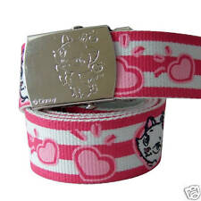 NEW WALT DISNEY THE ARISTOCATS MARIE ADJUSTABLE CANVAS BELT