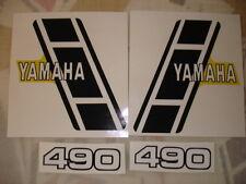 1983 YAMAHA YZ 490 Gas Tank and  Side Panel Decals AHRMA