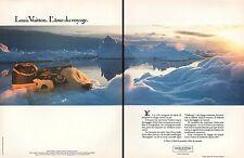 """PUBLICITE  LOUIS VUITTON  """" L' AME DU VOYAGE """"   AD  1985 * 4G"""