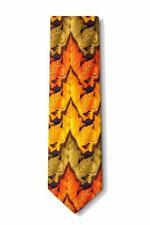 Men's Colorful Falling Leaves Fall Autumn Harvest Necktie Tie Neckwear