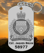 Winnipeg Police Service Steel Keychain Gift, Personalized FREE with NAME
