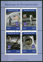 Chad 2019 CTO Moon Landing Apollo 11 Neil Armstrong 4v M/S Space Stamps