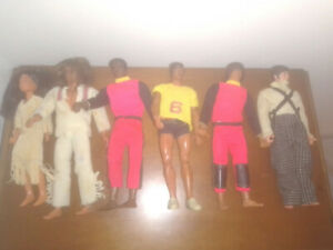 Big Jim LOTTO di 6 Mattel outfit accessori sport avventura. giocati (lotto2)