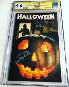 CGC SS 9.6 Halloween #1 Variant signed by cast of Halloween H20 Michael Myers