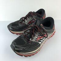 Brooks Glycerin 14 Shoes Black Red Silver Running Sneakers Men's 8.5 Medium (D)