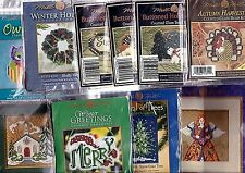 10 Mill Hill Christmas Turkey, Owl, Angel, Tree, Church Beaded Ornaments Kit Lot