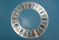 "LARGE SILVERED DIAL CHAPTER FOR GRANDFATHER CLOCK 10.5"" or 27 cm NEW OLD STOCK!"