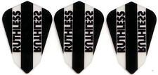 Ruthless Extra Strong Dart Flights - Black Fantail Shape