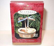 NEW Hallmark Keepsake Ornament Baby's First Christmas 1997 Harlem Textile Works