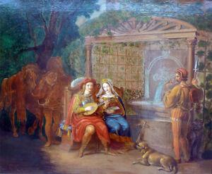 Ölgemälde um 1850, Paolo & Francesca ? Carl Wilhelm Kolbe II ?