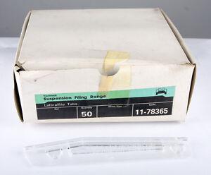 Twinlock Lateralfile Tabs Clear 78365 Box 50