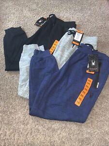 NWT Men's SPYDER Active XXL Joggers Pants Gray Black Navy Blue