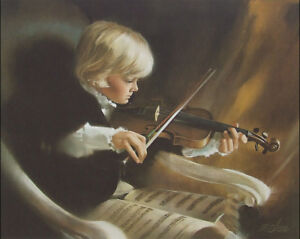 THE YOUNG VIRTUOSO DONALD ZOLAN 27X22 SIGNED LTD ED #726 LITHOGRAPH ARTWORK NEW