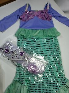 Mermaid Tails Costume Dresses Size 4 Princess Birthday Party Role Pretend