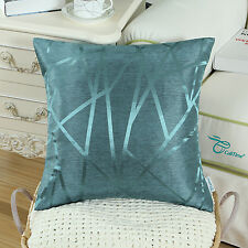 """CaliTime Reversible Cushion Covers Throw Pillows Shells Lines Home Decor 18""""X18"""""""
