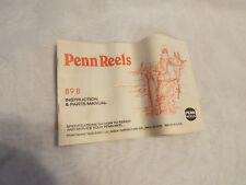 Penn reel 89 B instruction & parts manual