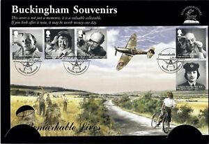 Buckingham Souvenirs First Day Cover - Remarkable Lives